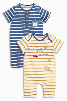 Boat Rompers Two Pack (0mths-2yrs)