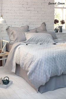 Secret Linen Store Teasels Dove Grey Duvet Cover