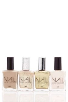 Set Of 4 Nude Nail Polish Collection