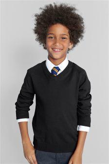 V-Neck Knit Sweater (3-16yrs)