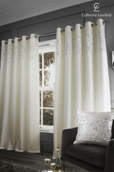 Catherine Lansfield Eyelet Curtains