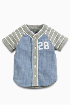 Short Sleeve Baseball Shirt (3mths-6yrs)