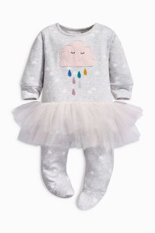 Tutu Cloud Print Sleepsuit (0-12mths)