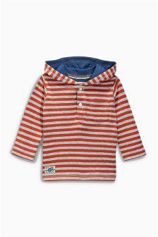 Orange/Grey Striped Hoody (3mths-6yrs)