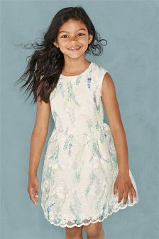 Cream Floral Prom Dress (3-16yrs)