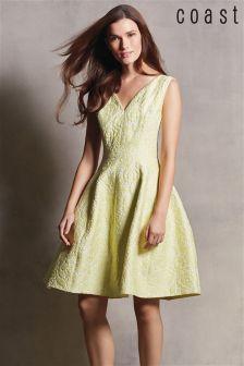 Yellow Coast Amberley Jacquard Dress