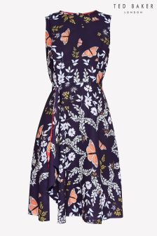 Ted Baker Mid Blue Jennesa Floral Print Dress