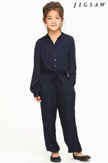 Jigsaw Blue Silky Jumpsuit