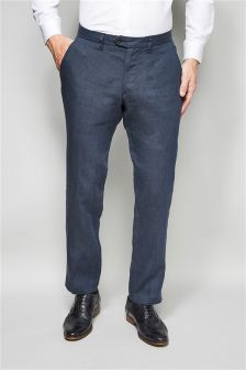 Tailored Fit Linen Trousers