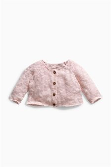 Pale Pink Knitted Cardigan (0mths-2yrs)