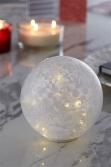 Light Up Frosted Glass Orb