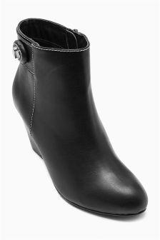 Twist Lock Ankle Boots