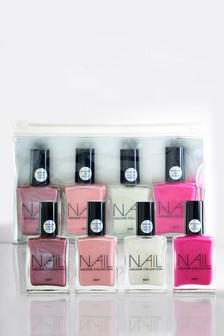 Set of 4 Pink 14ml Nail Colour Collection