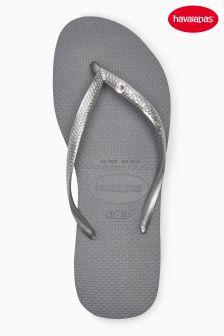 Grey Havaianas® Slim Crystal Glamour Flip Flop