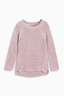 Pink Metallic Sweater (3-16yrs)