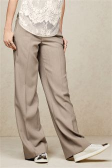 Herringbone Slouch Trousers