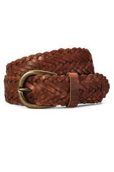 Tan Leather Weave Belt