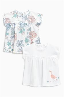 Duck And Floral T-Shirts Two Pack (0mths-2yrs)