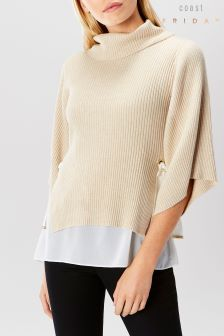 Coast Cream Cameron Cowl Neck Knit Top