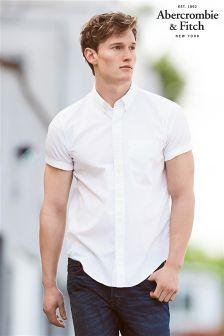Abercrombie & Fitch White Poplin Shirt