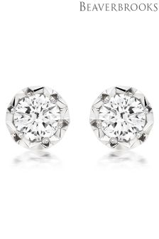 Beaverbrooks 9ct White Gold Diamond Earrings