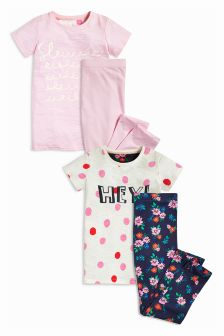 Slogan Legging Pyjamas Two Pack (3-16yrs)
