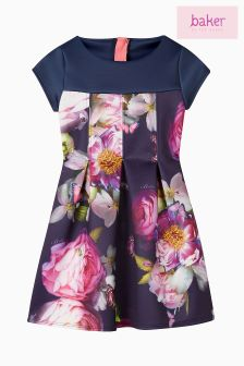 Baker by Ted Baker Blue Printed Scuba Dress