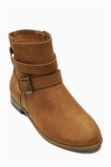 Perforated Ankle Boots (Older Girls)