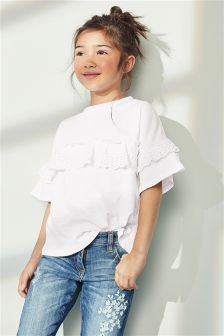 Frill Short Sleeve T-Shirt (3-16yrs)
