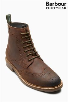 Barbour® Chocolate Brown Belsay Brogue Boot