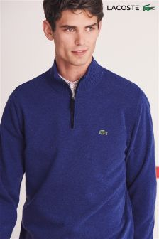 Lacoste® Blue 1/4 Zip Knit Jumper