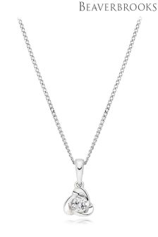 Beaverbrooks 9ct White Gold Diamond Pendant