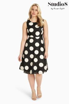 Studio 8 Black/Ivory Iris Dress