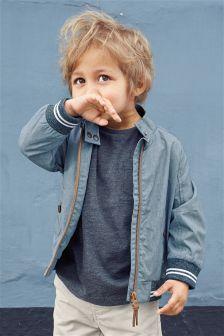 Blue Harrington Jacket (3mths-6yrs)