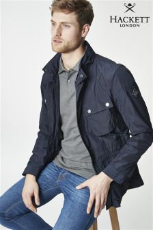 Hackett Navy Velospeed Jacket
