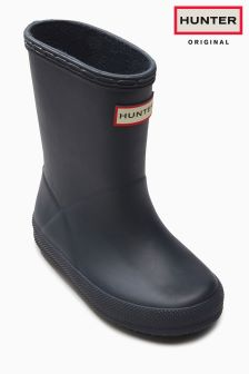 Hunter Navy First Classic Wellington Boot