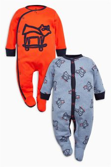 Character Sleepsuits Two Pack (0mths-2yrs)