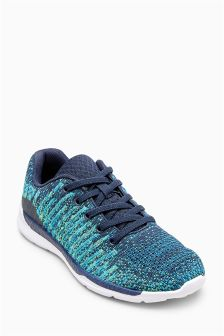 Knitted Elastic Lace Trainers (Older Boys)
