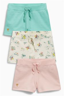 Ditsy All Over Print Shorts Three Pack (3-16yrs)