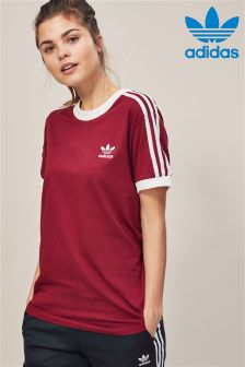 adidas Originals Burgundy 3 Stripe Tee
