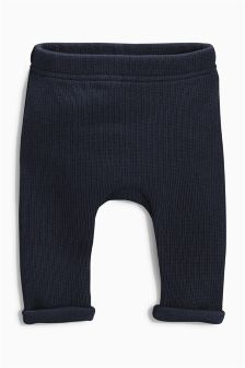 Navy Knit Look Joggers (0-18mths)