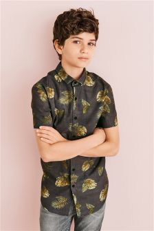 Leaf Print Shirt (3-16yrs)