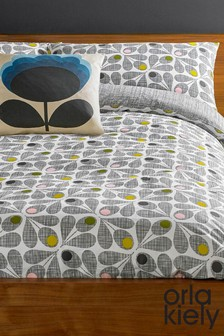 Orla Kiely Acorn Cup Slate Housewife Pillowcase