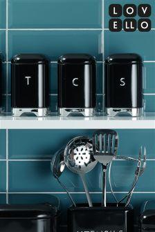 Set of 3 Kitchencraft Lovello Retro Style Storage Jars