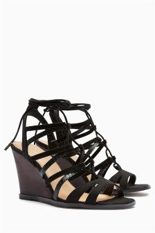 Lace-Up Wedges