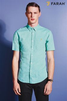 Pale Green Farah Oxford Shirt