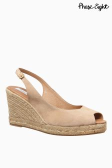 Phase Eight Blush Pink Suede Espadrille