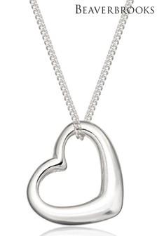 Beaverbrooks Silver Heart Pendant