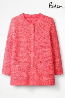Boden Bright Watermelon Tori Cardigan