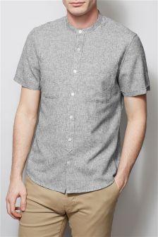 Twin Pocket Short Sleeve Grandad Shirt